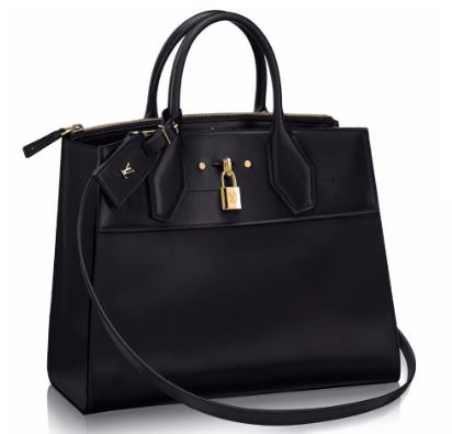 city steamer leather tote bag front view